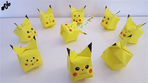 origami pokemons origami pok 233 mon of pikachu tips