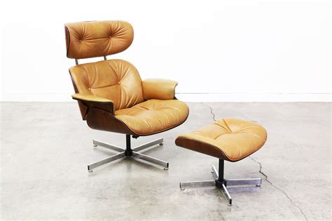 eames lounge chair vintage vintage eames style lounge chair and ottoman saomc co