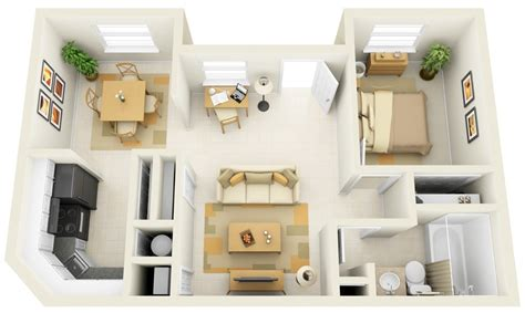 Floor Plans For A Small House 50 one 1 bedroom apartment house plans architecture