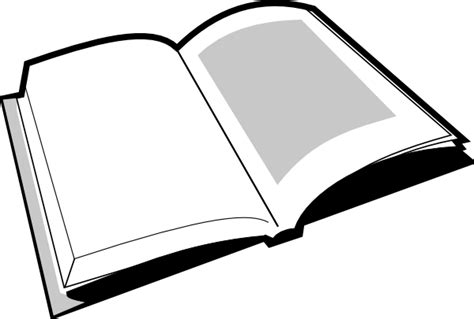 black picture book open book black and white clipart clipart suggest