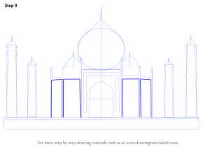 how to drow step by step how to draw taj mahal drawingtutorials101