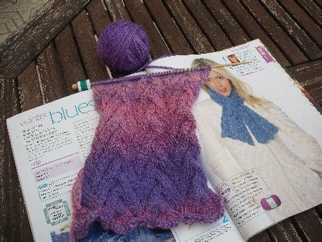 complicated knitting patterns blue skies and bougainvillea stitches of time