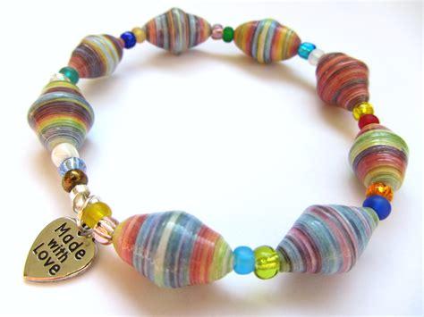 paper bead bracelets paper bead jewelry diana designs