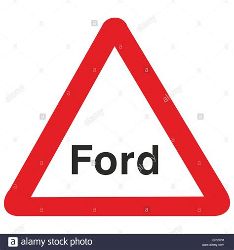 Ford Sign by Uk Road Sign Ford Stock Photo Royalty Free Image