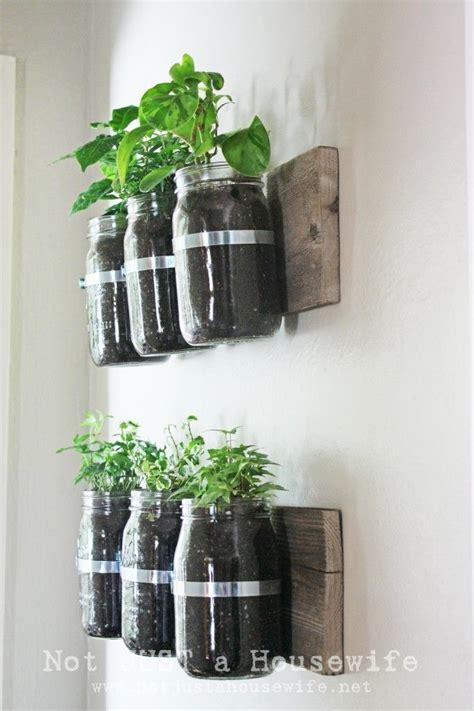 jar herb garden wall jardin aromatique diy des pots maison pour vos aromates