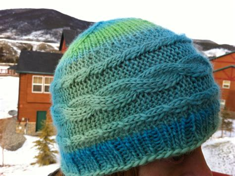 best yarn for knitting hats gondola cables hat original knitting pattern by