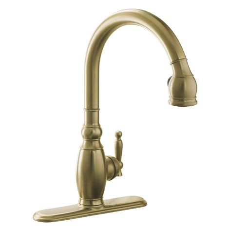 brushed bronze kitchen faucets shop kohler vinnata vibrant brushed bronze 1 handle pull