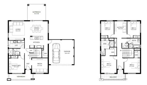 2 story house floor plans 5 bedroom house designs perth storey apg homes