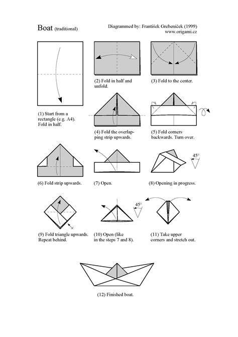 origami boat pdf origami how to make a paper ship origami boat how