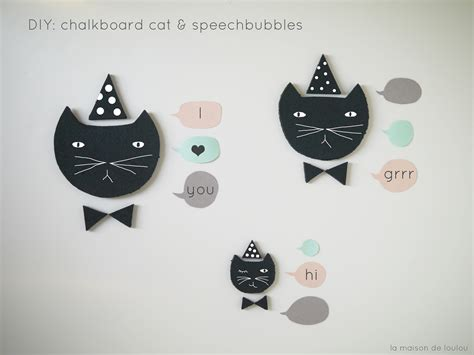 diy chalkboard talk diy free templates chalkboard cats speech bubbles