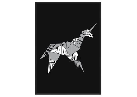 blade runner unicorn origami blade runner origami unicorn poster arcane store