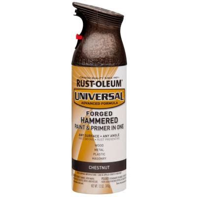home depot spray paint and primer rust oleum universal 12 oz all surface forged hammered