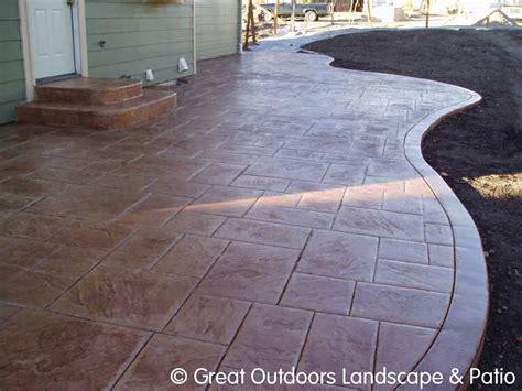 cement patio ideas denver colorado landscaping concrete patios more