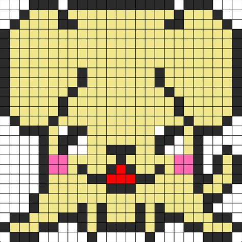 kawaii perler bead patterns kawaii dog2 perler bead pattern bead sprites animals