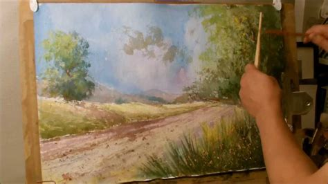how to paint how to paint a landscape in water color