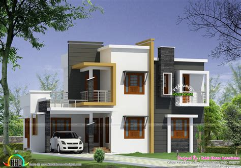 modern home designs plans box type modern house plan kerala home design and floor plans