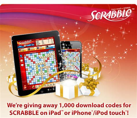 scrabble ea ea is giving away 2 000 free codes for scrabble on iphone