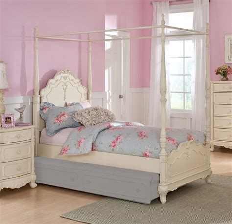 cinderella bedroom set homelegance cinderella poster bed ecru 1386tpp 1