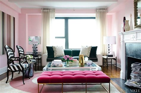 Shabby Chic Bedrooms Pinterest by Pink Velvet Tufted Bench Contemporary Living Room Vogue
