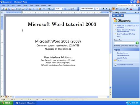 on microsoft word microsoft word 2003 tutorial introduction to ms word 2003
