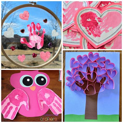 valentines day arts and crafts for s day handprint craft card ideas crafty morning