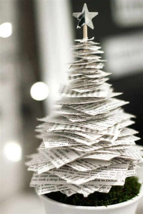 papier weihnachtsbaum tannenbaum basteln 30 kreative diy ideen f 252 r