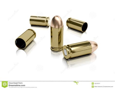 with used bullet casings 9mm bullets and casings royalty free stock photography