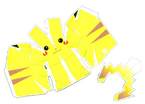 paper crafting templates anime papercraft templates pikachu alternative versions