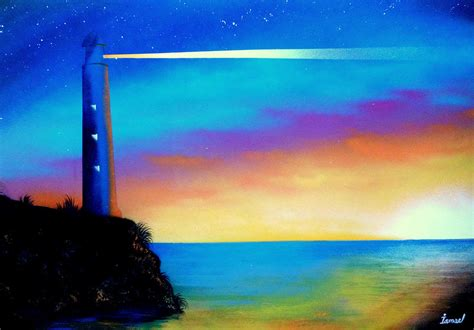 spray paint lighthouse lighthouse painting by ismael paint