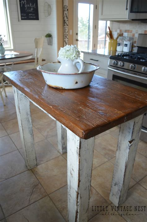 kitchen island rustic rustic kitchen island vintage nest