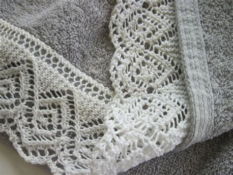knitting lace embroidery edging embellishments on knitting on