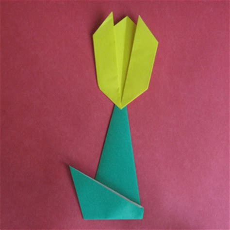 origami tulip easy how to origami at howto origami let s