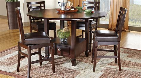 dining room counter height sets landon chocolate 5 pc counter height dining set dining