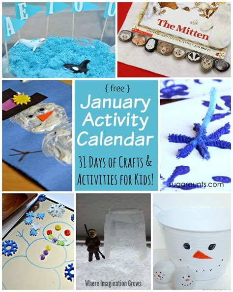january crafts 31 days of activities for january where imagination