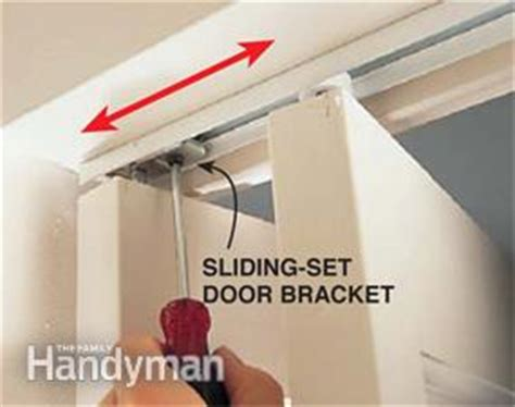 bifold closet door repair how to fix a bifold door family handyman