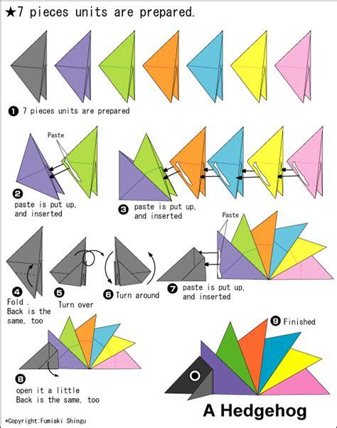 origami hedgehog origami a hedgehog easy origami