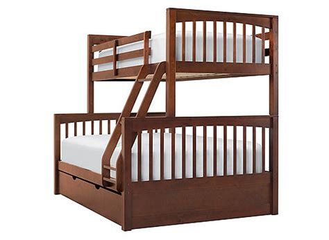 raymour and flanigan bunk beds bunk bed w trundle cherry