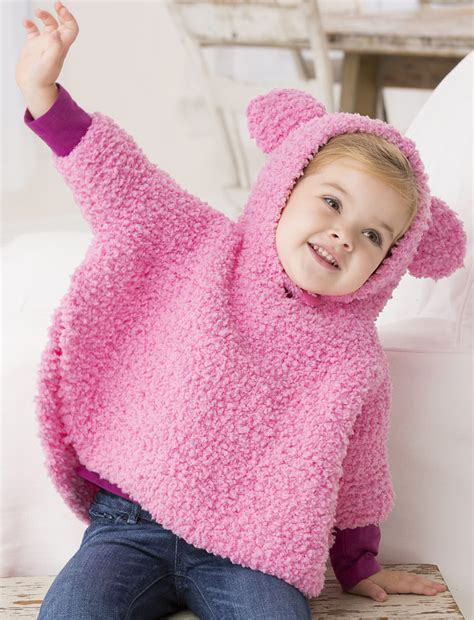 knit child poncho patterns free free knitting pattern for playful hooded poncho garter
