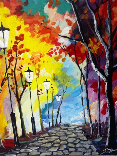 paint with a twist ideas cobblestone walk painting with a twist artsy fartsy