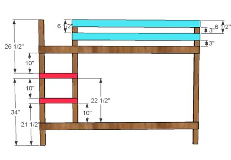 bunk bed ladder plans white classic bunk beds diy projects