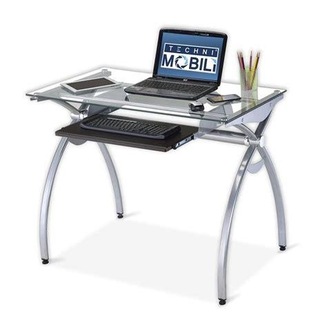 metal computer desk techni mobili alterna gls top metal computer desk