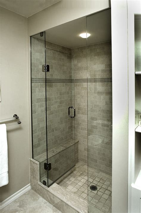 bathroom shower stall does the glass door on stall shower open in and not pull