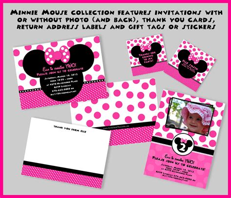 how to make minnie mouse invitation cards card invitation ideas minnie mouse birthday invitation