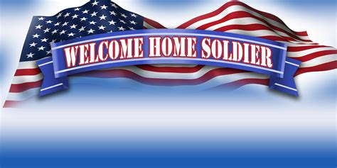 Shower Tabs by Military Banners Welcome Home Soldier