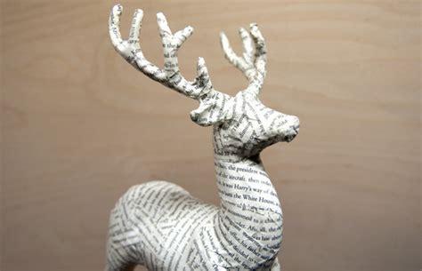 paper mache reindeer craft how to give a gaudy glitter reindeer a papier