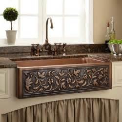 farmhouse style kitchen sinks 36 quot vine design copper farmhouse sink farmhouse sinks