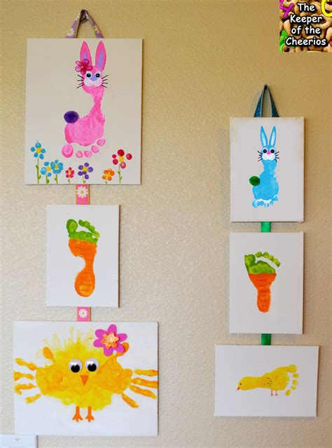 print crafts easter print and footprint crafts