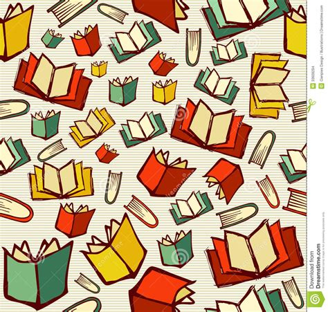 pattern picture books back to school education books seamless pattern