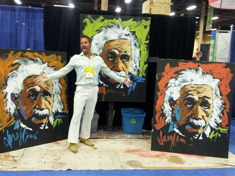vegas painting show a einstein 4 at mandalay bay in vegas artist douglas rouse