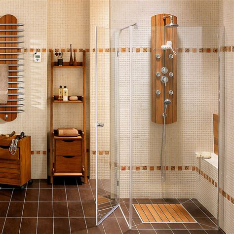 organisation salle de bains carrelage mural bath room